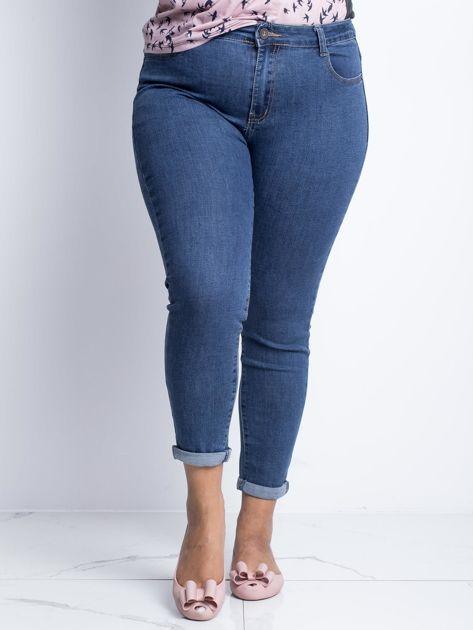 Ciemnoniebieskie jeansy plus size Souvenir                              zdj.                              1