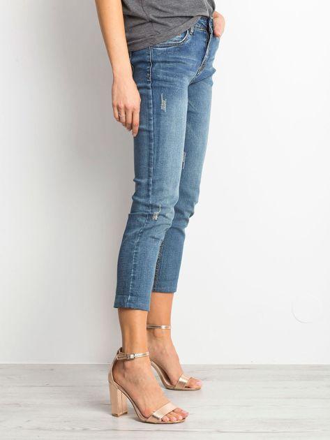 Ciemnoniebieskie spodnie jeansowe Renamed                              zdj.                              3
