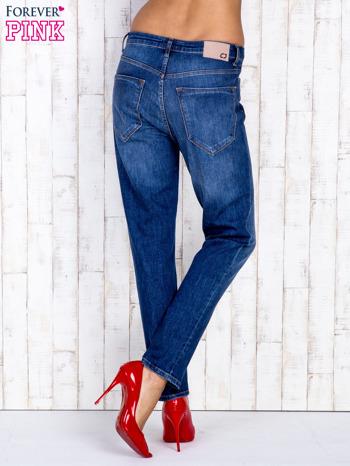 Ciemnoniebieskie spodnie jeansowe z wysokim stanem                                  zdj.                                  3
