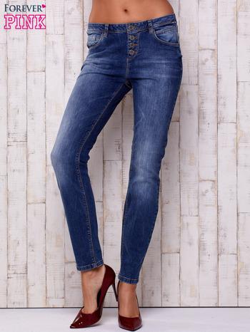 Ciemnoniebieskie spodnie regular jeans                                  zdj.                                  1