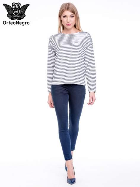 Ciemnoniebieskie spodnie skinny jeans z wysokim stanem                                  zdj.                                  2