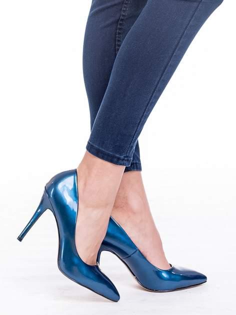 Ciemnoniebieskie spodnie skinny jeans z wysokim stanem                                  zdj.                                  7