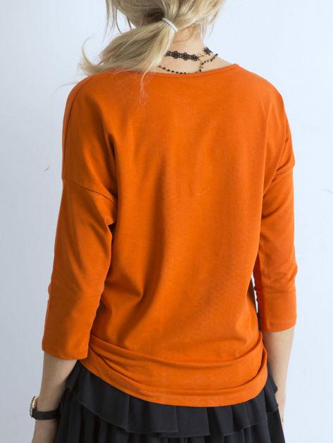 Ciemnopomarańczowa bluzka April                              zdj.                              2