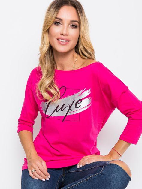 Ciemnoróżowa bluzka Luxe