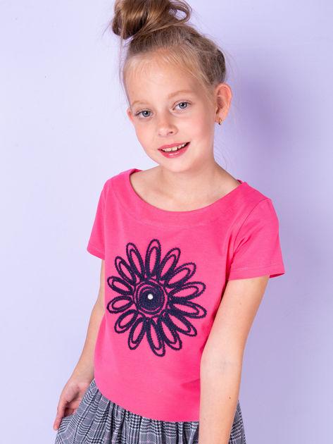 Ciemnoróżowa tunika dla dziewczynki