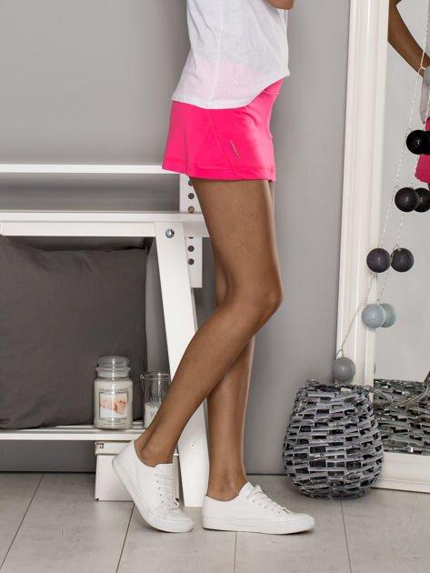 Ciemnoróżowe gładkie spodenki spódniczka tenisowa                                   zdj.                                  5