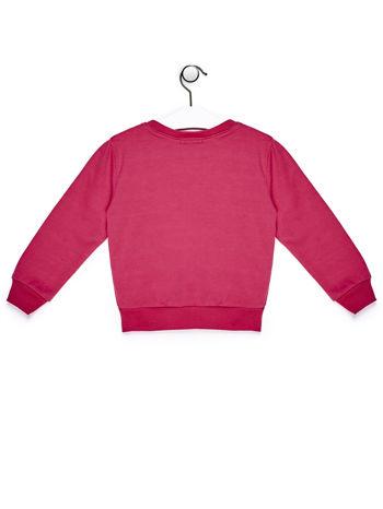 Ciemnoróżowy komplet dla dziewczynki bluza i spodnie                              zdj.                              3