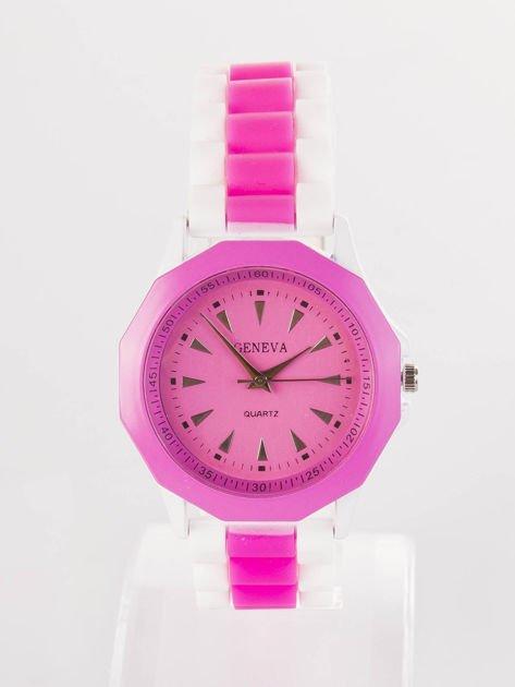 Ciemnoróżowy zegarek damski                              zdj.                              1