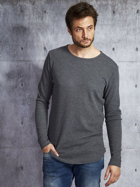 Ciemnoszara bawełniana bluzka męska