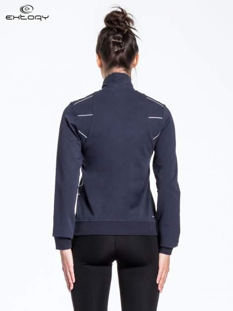 Ciemnoszara bluza sportowa z logo EXTORY                                  zdj.                                  3