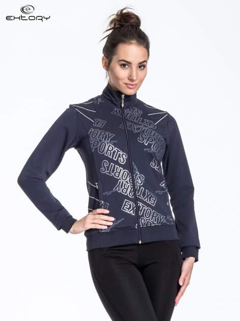 Ciemnoszara bluza sportowa z logo EXTORY                                  zdj.                                  1
