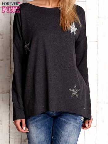 Ciemnoszara bluza z błyszczącymi gwiazdkami                              zdj.                              1