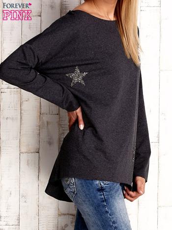 Ciemnoszara bluza z błyszczącymi gwiazdkami                              zdj.                              3