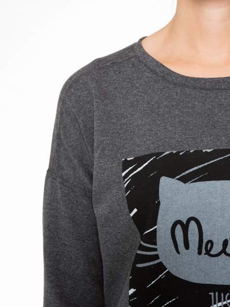 Ciemnoszara bluza z nadrukiem MEOW                                  zdj.                                  6