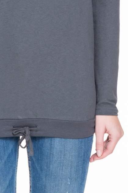 Ciemnoszara bluzka dresowa z kołnierzokapturem i ściągaczem na dole                                  zdj.                                  6