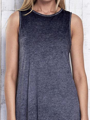 Ciemnoszara dekatyzowana sukienka maxi z dłuższym tyłem                                  zdj.                                  6