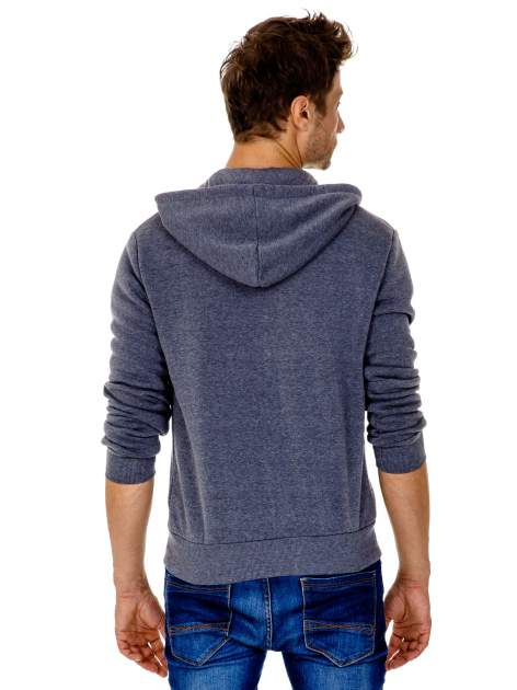 Ciemnoszara gruba bluza męska z kapturem i kieszeniami                                  zdj.                                  5