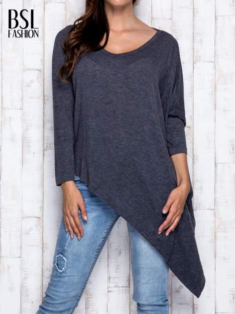 Ciemnoszara melanżowa bluzka oversize                                  zdj.                                  1