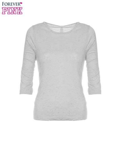 Ciemnoszara melanżowa bluzka z rękawami 3/4                                  zdj.                                  5