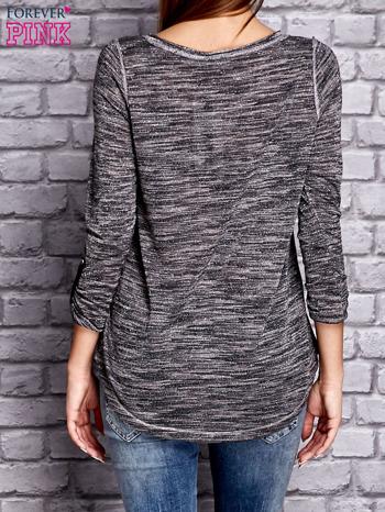 Ciemnoszara melanżowa bluzka ze srebrną nitką                              zdj.                              2