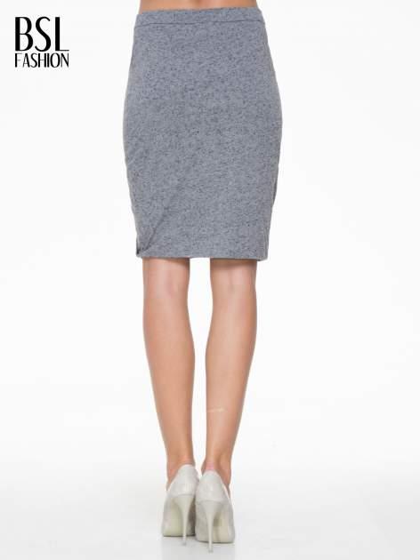 Ciemnoszara melanżowa spódnica z drapowaniem                                  zdj.                                  5