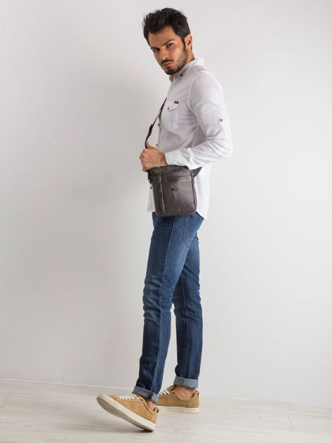 Ciemnoszara męska torba na ramię                              zdj.                              4