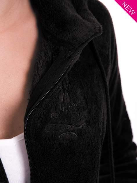 Ciemnoszara pluszowa bluza z kapturem z uszkami i pomponami                                  zdj.                                  11