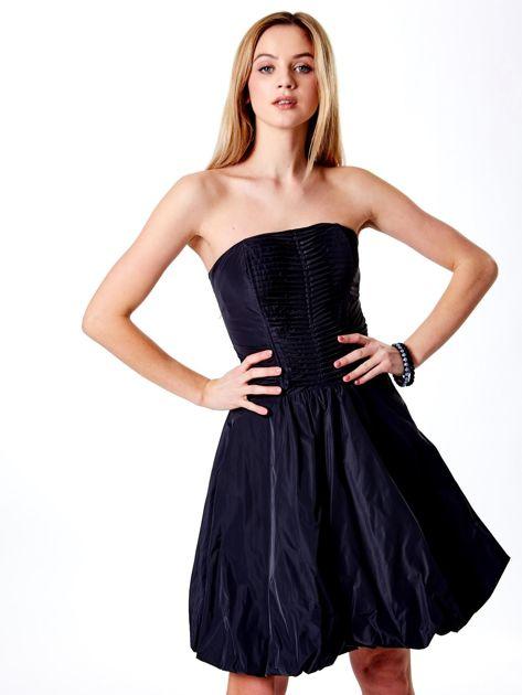 Ciemnoszara rozkloszowana sukienka                               zdj.                              1