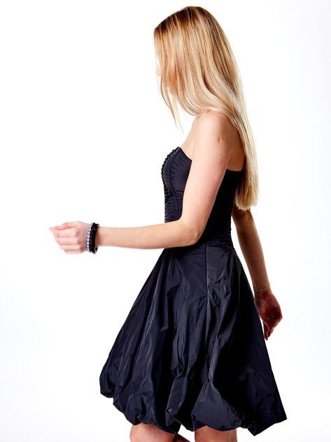 Ciemnoszara rozkloszowana sukienka                               zdj.                              5