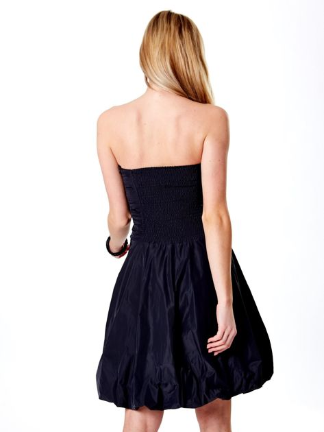 Ciemnoszara rozkloszowana sukienka                               zdj.                              2