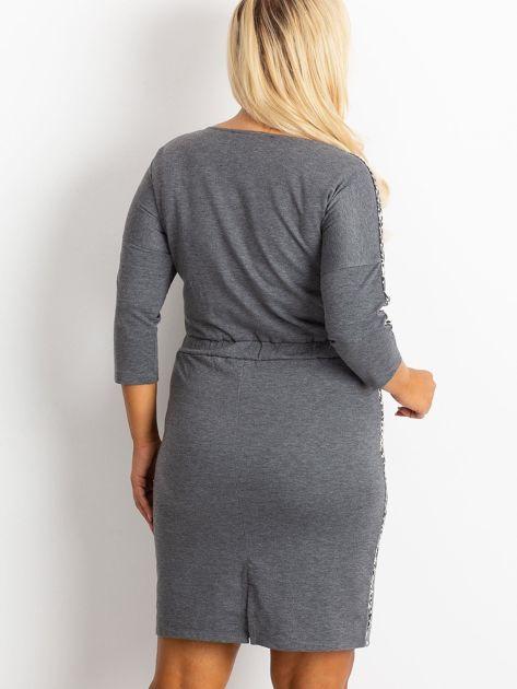 Ciemnoszara sukienka plus size Alison                              zdj.                              2