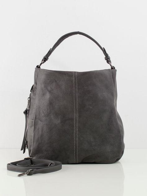 Ciemnoszara torba z ekologicznej skóry