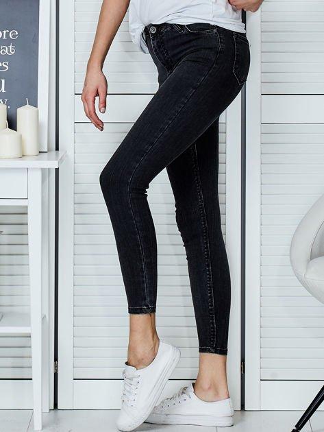 Ciemnoszare jeansy rurki                               zdj.                              3