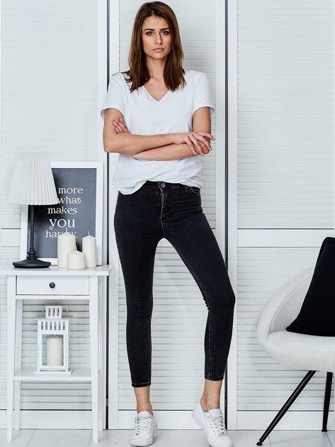 Ciemnoszare jeansy rurki                               zdj.                              4