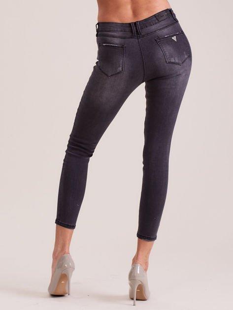 Ciemnoszare jeansy skinny                              zdj.                              2