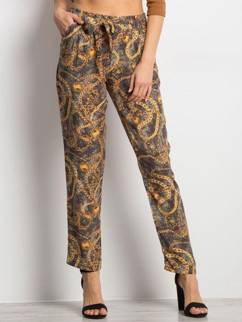 Ciemnoszare spodnie Functional