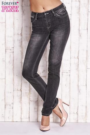 Ciemnoszare spodnie jeansowe regular jeans                                  zdj.                                  1