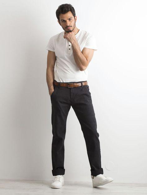 Ciemnoszare spodnie męskie                              zdj.                              4