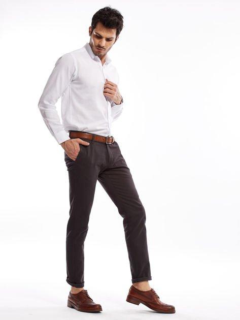 Ciemnoszare spodnie męskie chinos                              zdj.                              10