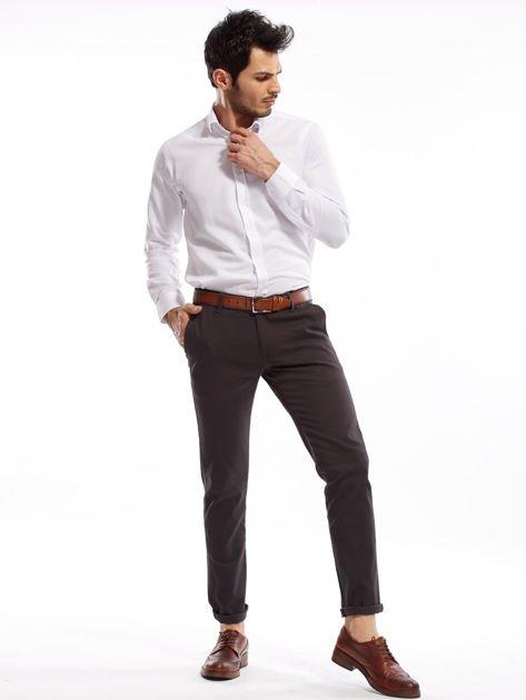 Ciemnoszare spodnie męskie chinos                              zdj.                              11