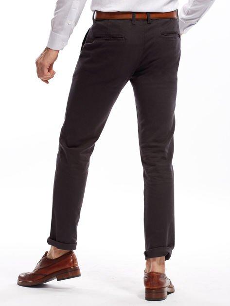Ciemnoszare spodnie męskie chinos                              zdj.                              2