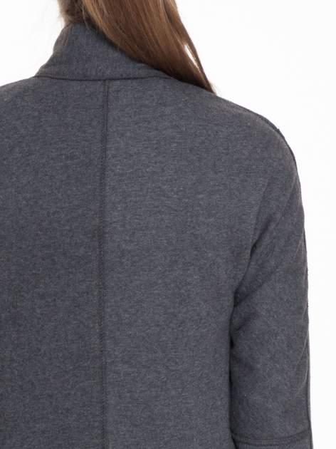 Ciemnoszary dresowy płaszcz o kroju oversize                                  zdj.                                  9