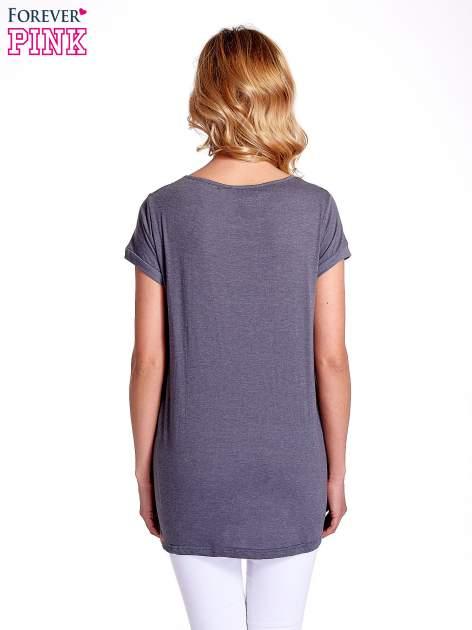Ciemnoszary luźny t-shirt                                   zdj.                                  3