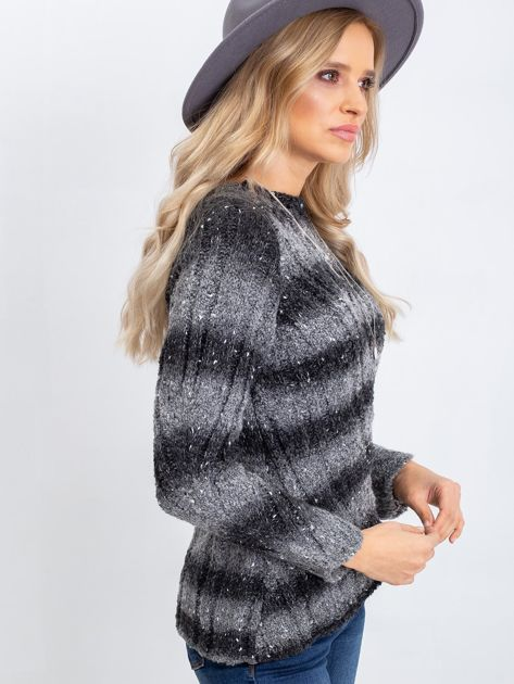 Ciemnoszary sweter Melanie                              zdj.                              3