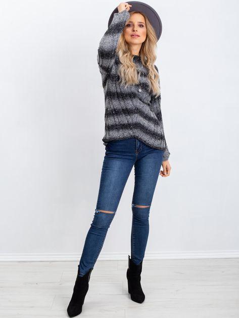 Ciemnoszary sweter Melanie                              zdj.                              4