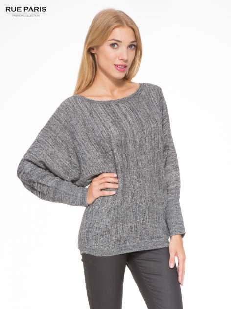 Ciemnoszary sweter z nietoperzowymi rękawami                                  zdj.                                  1
