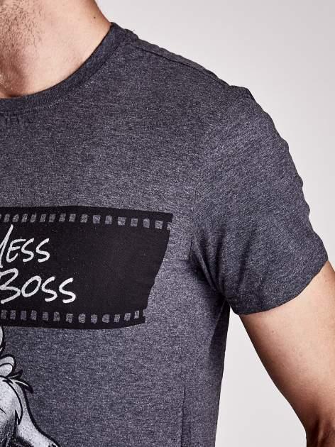 Ciemnoszary t-shirt męski LOONEY TUNES                                  zdj.                                  8