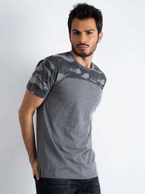Ciemnoszary t-shirt męski Limits