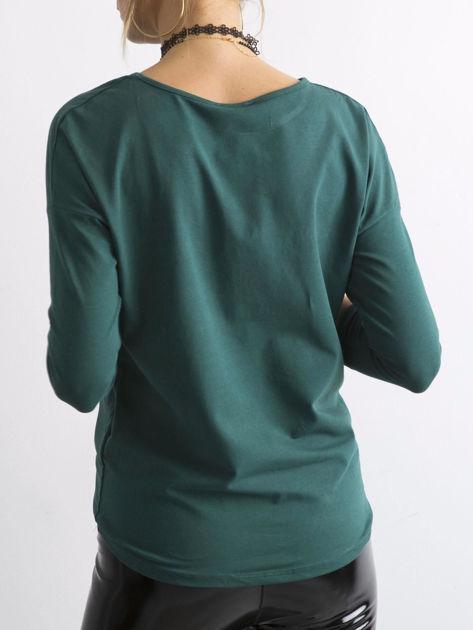 Ciemnozielona bluzka April                              zdj.                              2