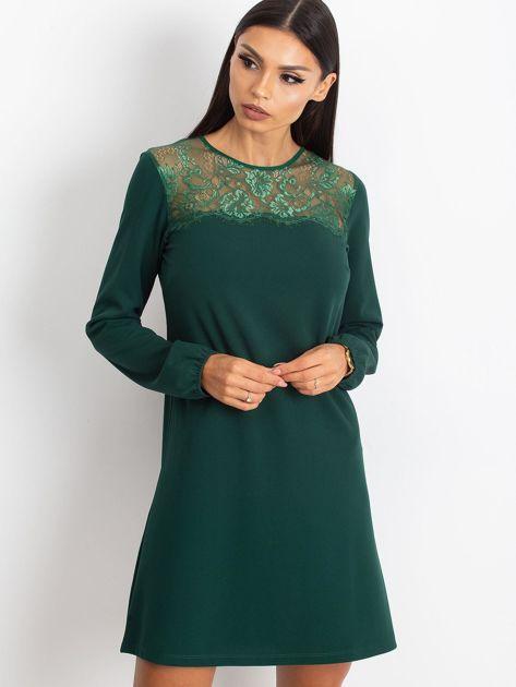 Ciemnozielona sukienka Bombay                              zdj.                              1